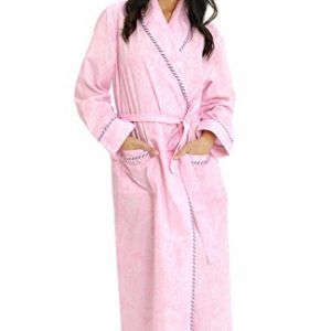 Del-Rossa-Womens-100-Cotton-Lightweight-Bathrobe-Robe-0
