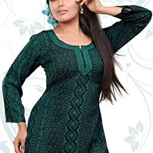 India-Tunic-Top-Kurti-Womens-Printed-Blouse-Indian-Clothing-0