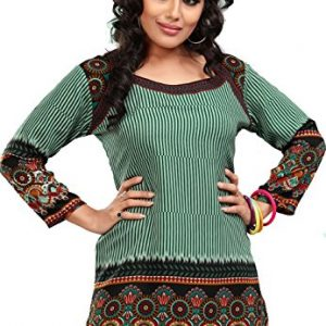 Indian-Tunic-Top-Womens-Kurti-Printed-Blouse-India-Clothing-0-1