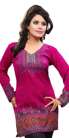 439ccd3c74f Indian-Tunic-Top-Womens-Kurti-Printed-Blouse-India-Clothing-70 ...
