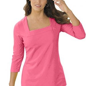 Jessica-London-Womens-Plus-Size-Tee-With-Square-Neck-0