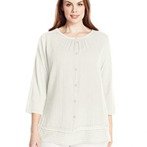 Lucky-Brand-Womens-Plus-Size-Fabric-Mixed-Peasant-Top-0