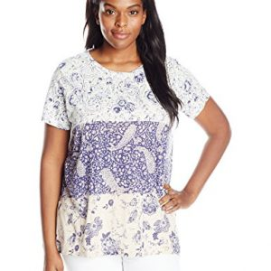 Lucky-Brand-Womens-Plus-Size-Mixed-Print-T-Shirt-0