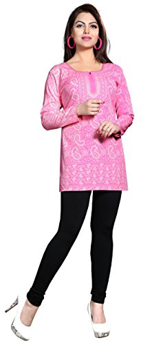 782c84ccbf368 Maple Clothing Kurti Top Tunic Womens Printed Blouse Indian Clothes