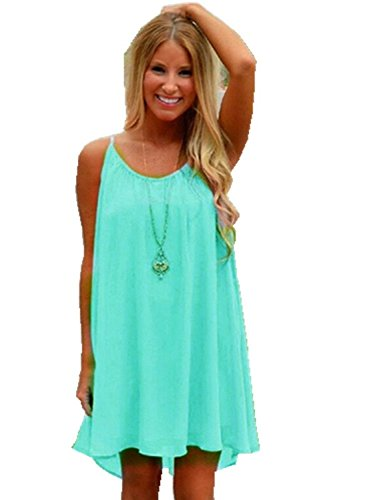 ReachMe Womens Summer Sexy Vibrant Color Chiffon Bathing Suit Cover Up 7e5b1f588e13