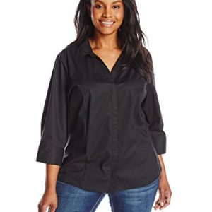 Riders-by-Lee-Indigo-Womens-Plus-Size-Bella-Easy-Care-34-Sleeve-Woven-Shirt-0