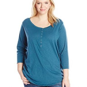 Riders-by-Lee-Indigo-Womens-Plus-Size-Sassy-34-Sleeve-Knit-Shirt-0