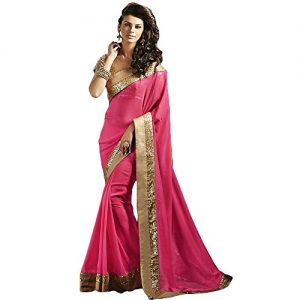 Shree-Designer-Sarees-Womens-Pink-Pure-Georgette-Designer-Saree-0