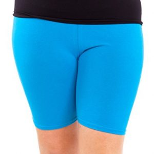 Woman-Plus-Size-Cotton-Spandex-Mid-Thigh-Shorts-Multiple-Colors-Available-0