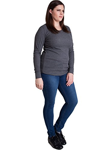 Woman-Plus-Size-Crewneck-Long-Sleeve-Thermal-Shirt ...