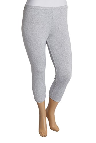 Women's Plus Size Cotton Full Length and Capri Leggings