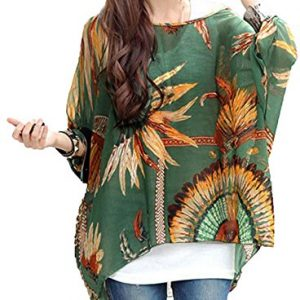 iNewbetter-Womens-Floral-Batwing-Sleeve-Beach-Loose-Blouse-Tunic-Tops-0