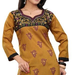 Long-India-Tunic-Top-Womens-Kurti-Printed-Embroidered-Blouse-Indian-Clothing-0