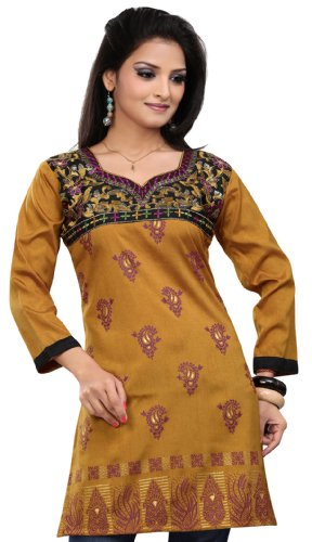 1e961adc143 Long India Tunic Top Womens Kurti Printed Embroidered Blouse ...