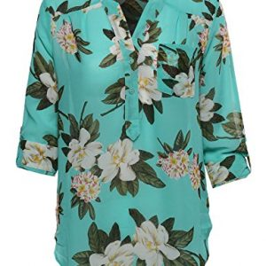 Awesome21-Womens-Floral-Henley-Blouse-Dress-Shirt-0