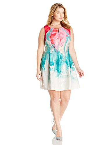 Gabby-Skye-Womens-Plus-Size-Floral-Printed-Fit-and-Flare-Dress-0