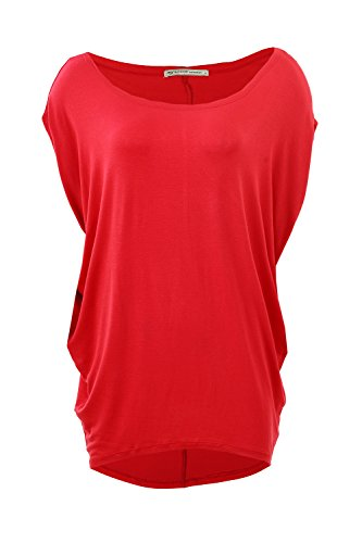 Glostory Women's Casual Off The Shoulder Shirts Women Tops and Blouses 1667 (S, Dark Mel Red)