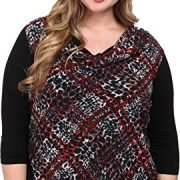 Karen-Kane-Plus-Womens-Plus-Size-Animal-Plaid-Overlay-Top-0
