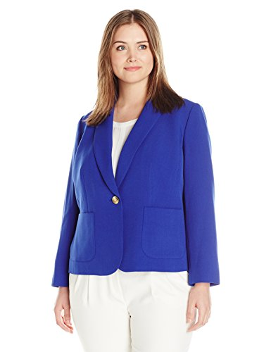Kasper-Womens-Plus-Size-1-Button-Jacket-0