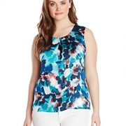 Kasper-Womens-Plus-Size-Floral-Pleat-Neck-Cami-0