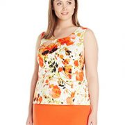 Kasper-Womens-Plus-Size-Floral-Printed-Top-0