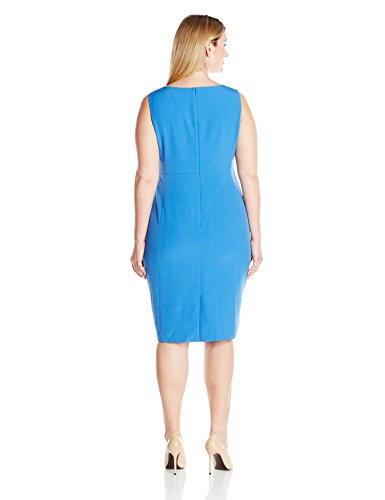 Kasper Women\'s Plus-Size Solid Stretch Crepe Sheath Dress