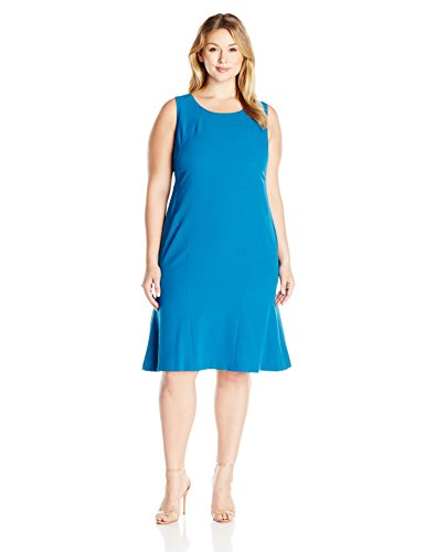 Kasper-Womens-Plus-Size-Stretch-Crepe-Flounce-Dress-0