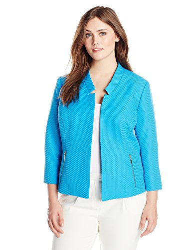 Kasper-Womens-Plus-Size-Textured-Open-Front-Jacket-with-Notched-Sleeves-0