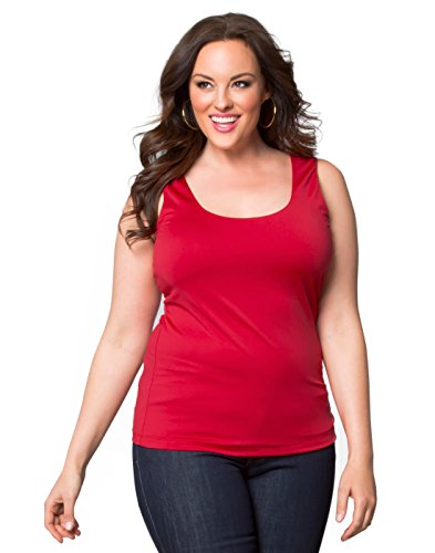 Kiyonna Women's Plus Size Most Wanted Stretch Camisole (3X, Red Haute)