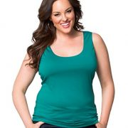 Kiyonna Women's Plus Size Most Wanted Stretch Camisole (4X, Tuscan Teal)