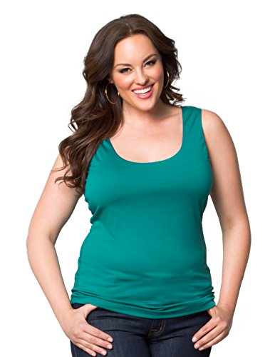 Kiyonna Women's Plus Size Most Wanted Stretch Camisole (3X, Tuscan Teal)