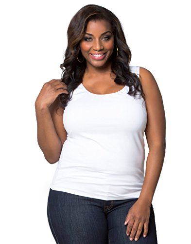 Kiyonna Women's Plus Size Most Wanted Stretch Camisole (4X, White)