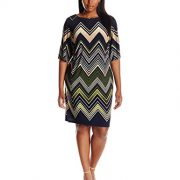 Sandra-Darren-Womens-Plus-Size-1-Pc-Elbow-Sleeve-Chevron-Printed-Ity-Shift-Dress-0
