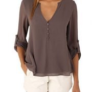 Women-Long-Sleeve-V-Neck-See-Through-Back-Sheer-Button-Up-Blouse-Shirt-Plus-Size-0