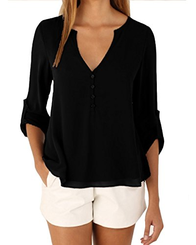 Womens button up blouses breeze clothing for Shirts with see through backs
