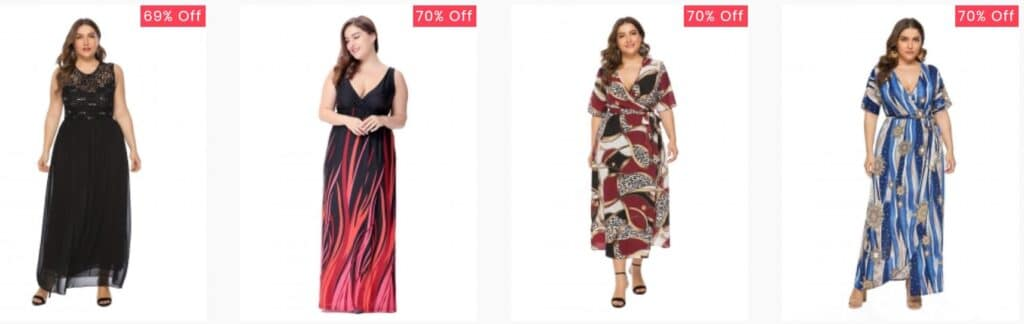 Zkaka Plus Size Dresses